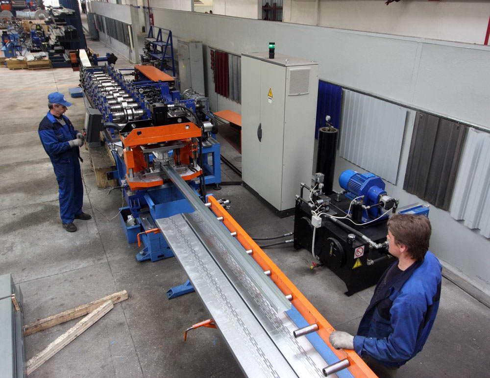 Производство ЛСТК конструкций на месте строительства дома